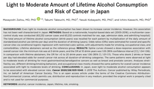 アルコールはちょっとくらい飲んだ方が体にいいのか?